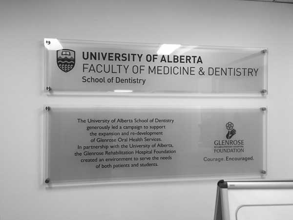 University of Alberta Faculty of Medicine and Dentistry Partnership Sign