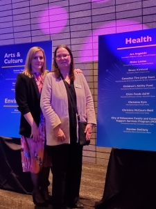 President & CEO Miranda Jordan-Smith with Chiildren's Ability Fund at 2019 National Philanthropy Day Awards